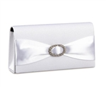 Coloriffics White Satin Clutch with Boca Crepe HB968