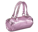 Coloriffics Pink Metallic Barrel Handbag
