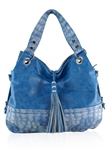 DollsBags Tassels and More Blue Satchel