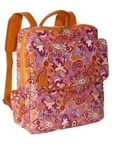 Kara B Metro Laptop Backpack Orange Paisley
