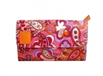 KaraB Commuter Wallet Orange Paisley
