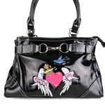 Katydid Black ETERNAL LOVE TATTOOED Handbag