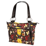 Kailo Chic Mocha Floral Laptop Tote