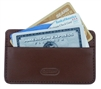 Leatherbay 50104 Genuine Leather Antique Tan Credit Card Holder