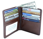 Leatherbay 50109 Genuine Leather Antique-Tan Double Fold Wallet
