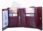 Leatherbay 50120 Genuine Leather Ambassador Wallet English Brown