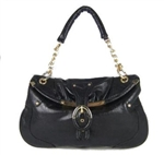 Melie Bianco W8-34 Black Buckle Frame Bag