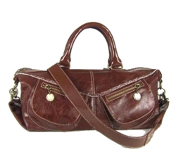 Melie Bianco W8-308 Saddle Double Pocket Satchel