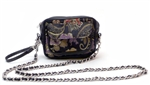 Women's Camera Bag Black Brocade