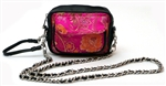 Women's Camera Bag Pink Brocade