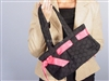 Top It Off Accessories Haley Bag Black Eyelet With Pink Picot Ribbon