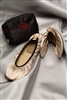The Cherry Brand Fold Up Ballet Flats Champagne Medium
