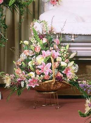 Pastel Beauty Fireside Basket