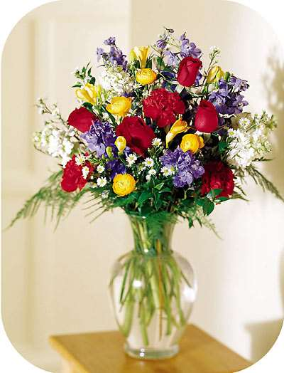Primary Spring Vase Arrangement