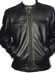 leather scooter jacket