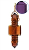 "Buddha Maitreya the Christ 2.5"" Violet Siberian Quartz Etheric Weaver in Copper"