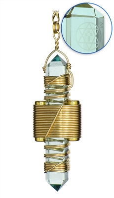 "Buddha Maitreya the Christ 2.5"" Aqua Siberian Quartz Etheric Weaver in Gold"