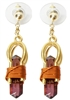 "Buddha Maitreya the Christ 7/8"" 24k Goldplated Sky Vajra Weaver Earrings"