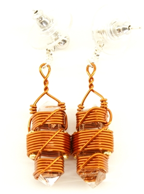 "Buddha Maitreya the Christ 7/8"" Etheric Weaver Earrings in Copper"