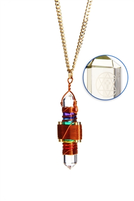 Buddha Maitreya the Christ Rainbow Gel Etheric Weaver Pendant in Copper
