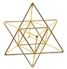 Buddha Maitreya the Christ Large  24K Goldplated Star Tetrahedron