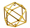 Buddha Maitreya the Christ - Medium 24K Goldplated Cube Octahedron
