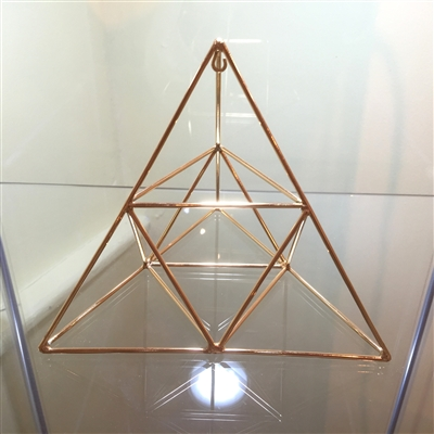 Buddha Maitreya the Christ - Medium 24K Goldplated Tetrahedron with Octahedron