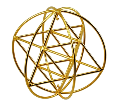 Buddha Maitreya the Christ Small 24K Goldplated Small 24K Goldplated Star Tetrahedron Orb