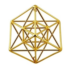 Buddha Maitreya the Christ - Small 24k Goldplated Metatrons Cube