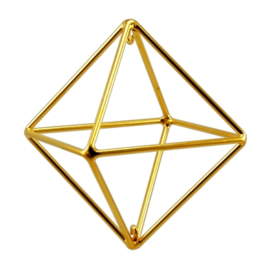 Buddha Maitreya the Christ - Small 24K Goldplated Octahedron