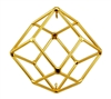 Buddha Maitreya the Christ - Small 24K Goldplated Rhombic Dodecahedron