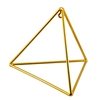 Buddha Maitreya the Christ - Small 24K Goldplated Tetrahedron