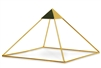"9 Inch 24k Gold-plated Meditation Pyramid with 2"" Capstone"
