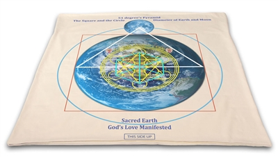 "Buddha Maitreya  Jesus the Christ Archangel  Metatron Cube Shambhala Mat System with 3.5"" Etheric Weavers & 6 Shambhala Star Solar forms in the inner grid"