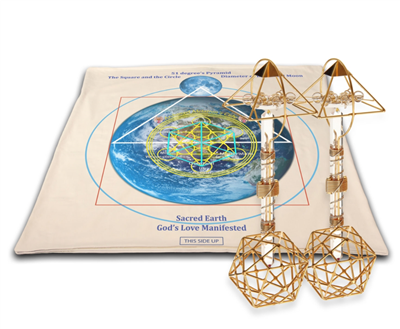 Archangel Metatrons Cube Mat with Christ Consciousness Vajras