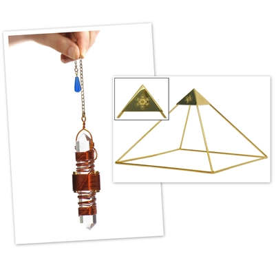 "Buddha Maitreya the Christ Meditator Set - Ascension Head Pyramid with 3.5"" Etheric Weaver"
