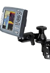 Universal Vertical Mount with Straight Swing Arm and RAM-202U-LO11 Adapter for Selected Lowrance Elite-5 and Mark-5 Series