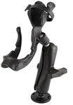 RAM-ROD 2000 Fishing Rod Holder with RAM-ROD Revolution Ratchet/Socket System and Round Flat Surface Base