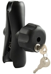 Double Socket Standard Length Arm for 1.5 Inch Ball w/ Keyed Lock