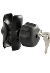 Double Socket SHORT Sized Length Arm for 1.5 Inch Ball w/ Keyed Lock (3.5 Inches in Overall Length)
