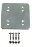 "RAM 3"" x 3"" Backer Plate w/ AMPS Hole Pattern (Fits RAM-B-202U, RAM-202U) & 1.5"" x 2"" Hole Pattern"