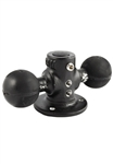 "2.5 Inch Diameter Base with Two 1.5 Inch Balls (Optional Third Ball), 5/8"" Dia Open Hole and Locking Knob"