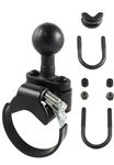 "ATV/UTV Strap or Zinc U-Bolt Base (U-Bolt Fits .5 to 1.25"" Dia., Strap Base Fits 1.57 to 3.15"" Dia.) and 1.5 Inch Ball"