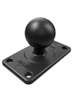 3.6 Inch x 2.1 Inch Plate with 35mm x 75mm VESA Hole Pattern with 1.5 Inch Dia. Rubber Ball