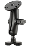 Handlebar Mount with 1 Inch Ball (NO HARDWARE), Standard Sized Length Arm & 2.5 Inch Dia. Plate