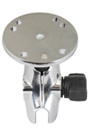 CHROME 2.5 Inch Dia. Round Base with 1 Inch Diameter Ball and SHORT Sized Length Arm (No Diamond Mounting Plate Adapter)