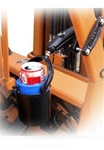"2 Inch Square Rail Clamp with Self Leveling Drink Holder (Fits Bottles 2.5"" to 3.5"" dia.)"