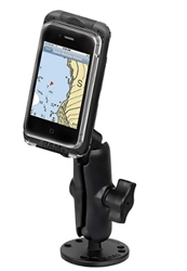 Flat Surface Mount with SMALL RAM-HOL-AQ7-1CU Aqua Box Pro 10 Waterproof Smartphone Holder