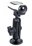 2.5 Inch Round Base with Standard Sized Length Arm and RAM-B-202U-GA63 Garmin VIRB Camera Adapter