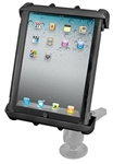 "2.5 Inch Diameter Base and Standard Sized Arm with RAM-HOL-TAB8U Universal Cradle for 10"" Screen Tablets WITH or WITHOUT Large Heavy Duty Case/Cover/Skin Including: Apple iPads"